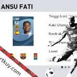 Ansu Fati, Pemain Muda Terbaik eFootball Pes 2021 Mobile